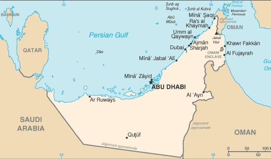 dubai térkép Egyesült Arab Emirátusok térképe   Travelon.hu dubai térkép